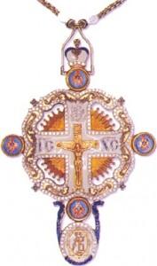 Памятный наперсный крест с украшениями в честь 2000-летия Рождества Христова