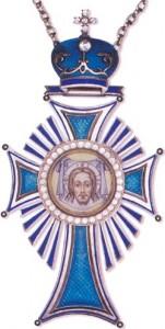 Патриарший наперсный крест с украшениями (образца после 1997 г.)