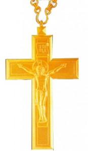 Золотой иерейский наперсный крест
