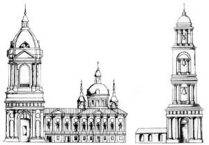 Проект Казанско-Николаевской церкви (А.П. Никулов, «Оскольские древности»)