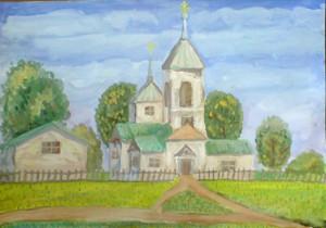 Храм с.Лапыгино. Морозова Юлия. 2011