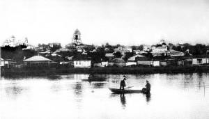 Вид Ст.Оскола 1905 с Богоявленским собором