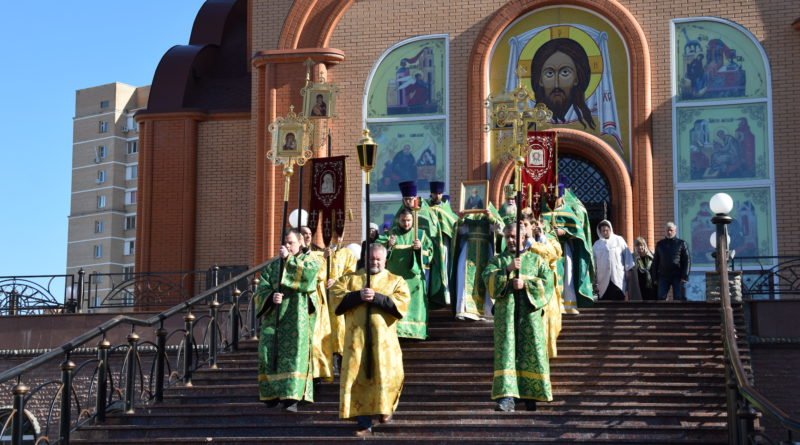 Престольный праздник в храме преподобного Сергия Радонежского